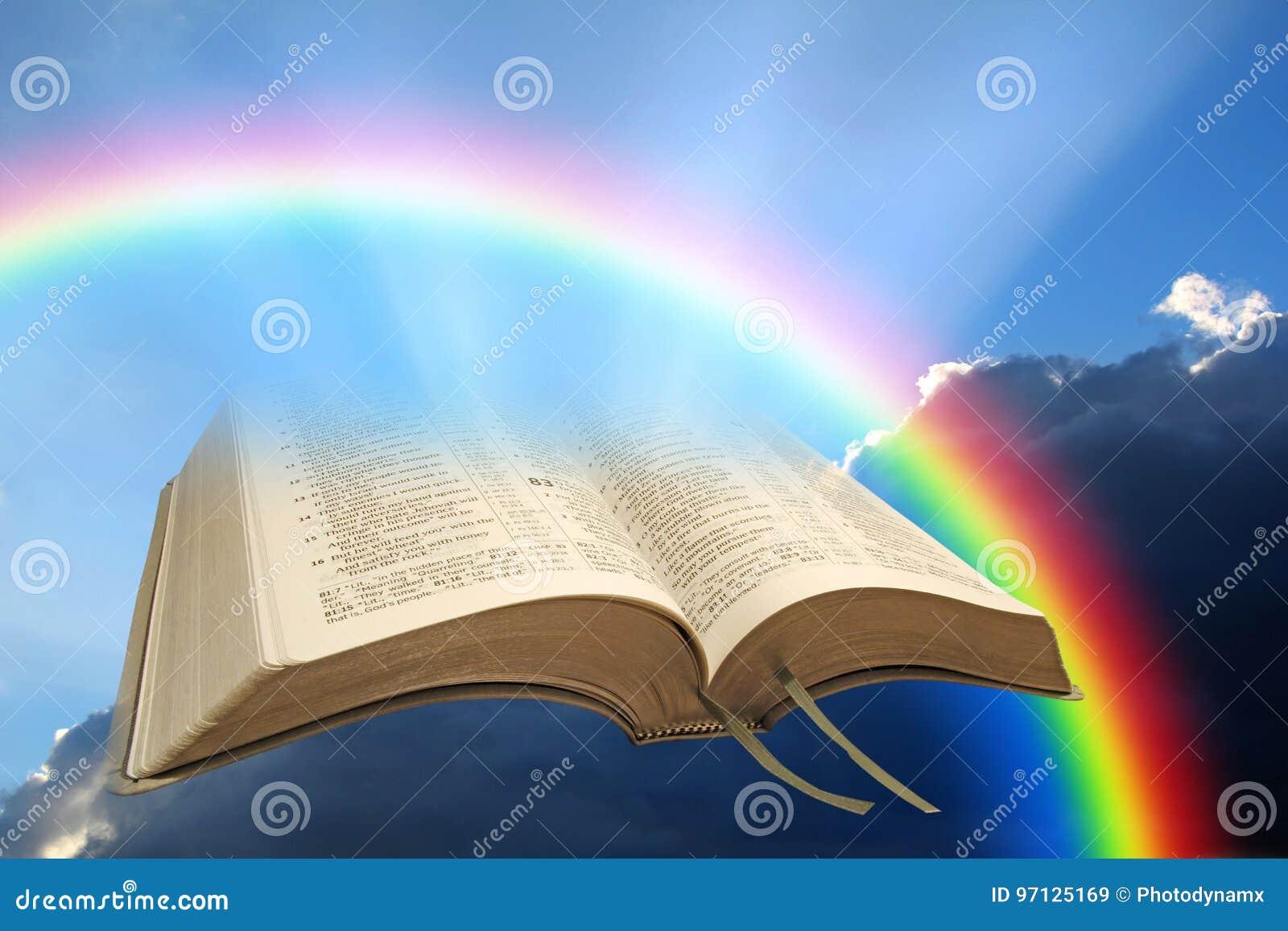 Pace della bibbia dell arcobaleno del dio