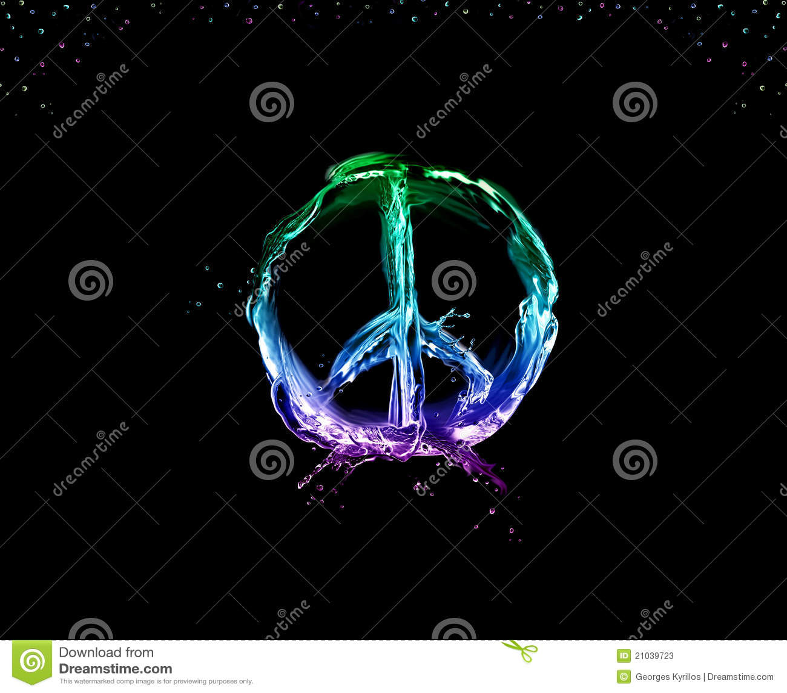 Pace ed amore sul nero