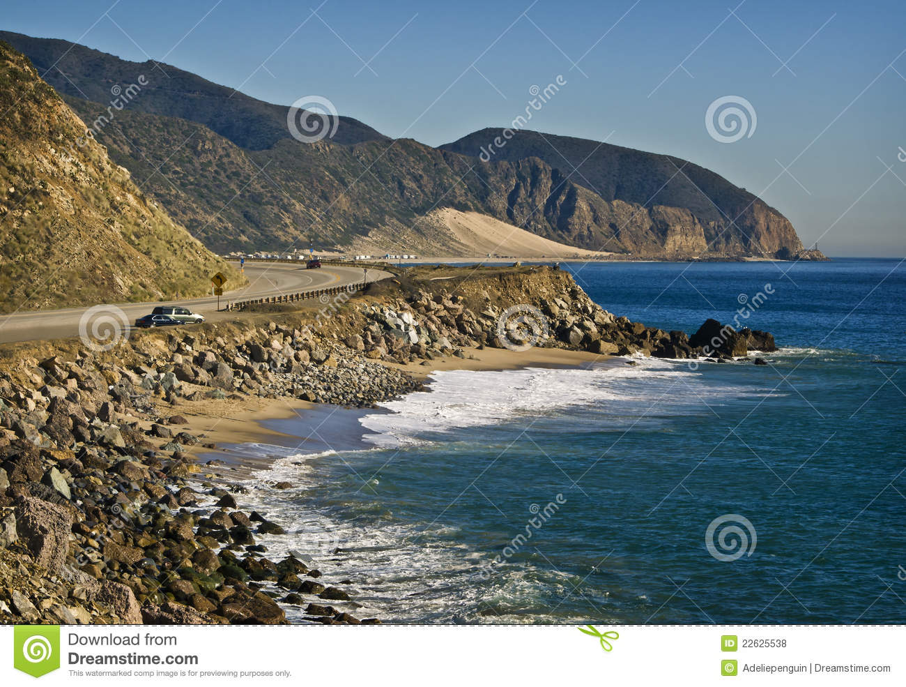 pacific coast highway, california stock photo - image of rugged
