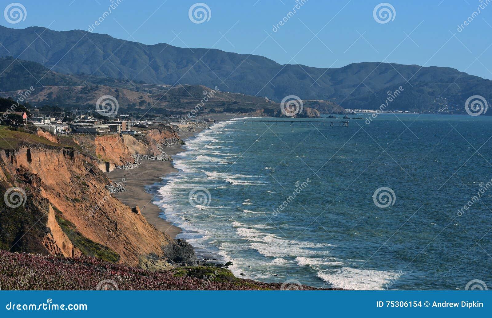 Pacific Coast, Pacifica California Stock Photo - Image of energy