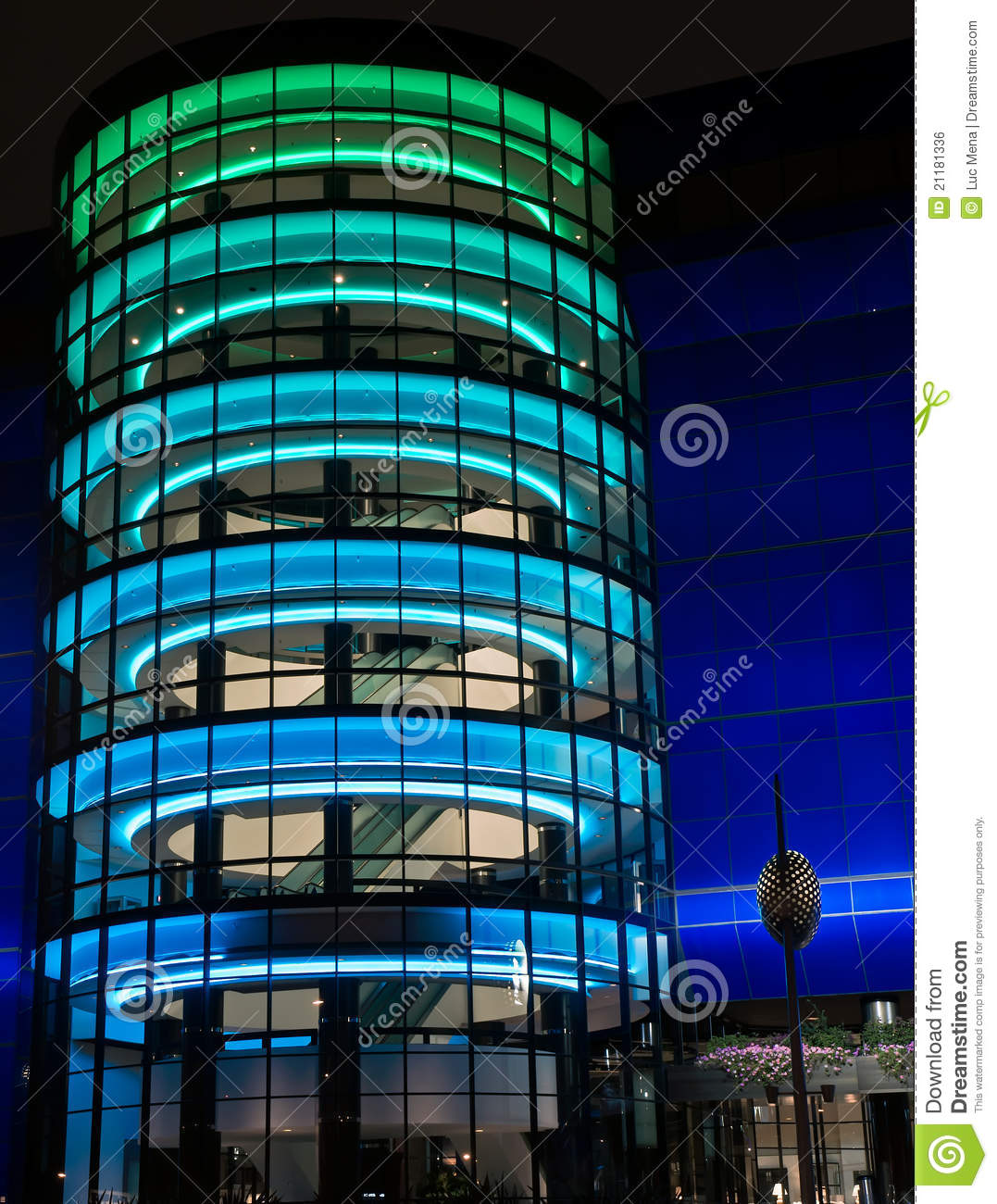 Pacific Design Center At Night Royalty Free Stock Image