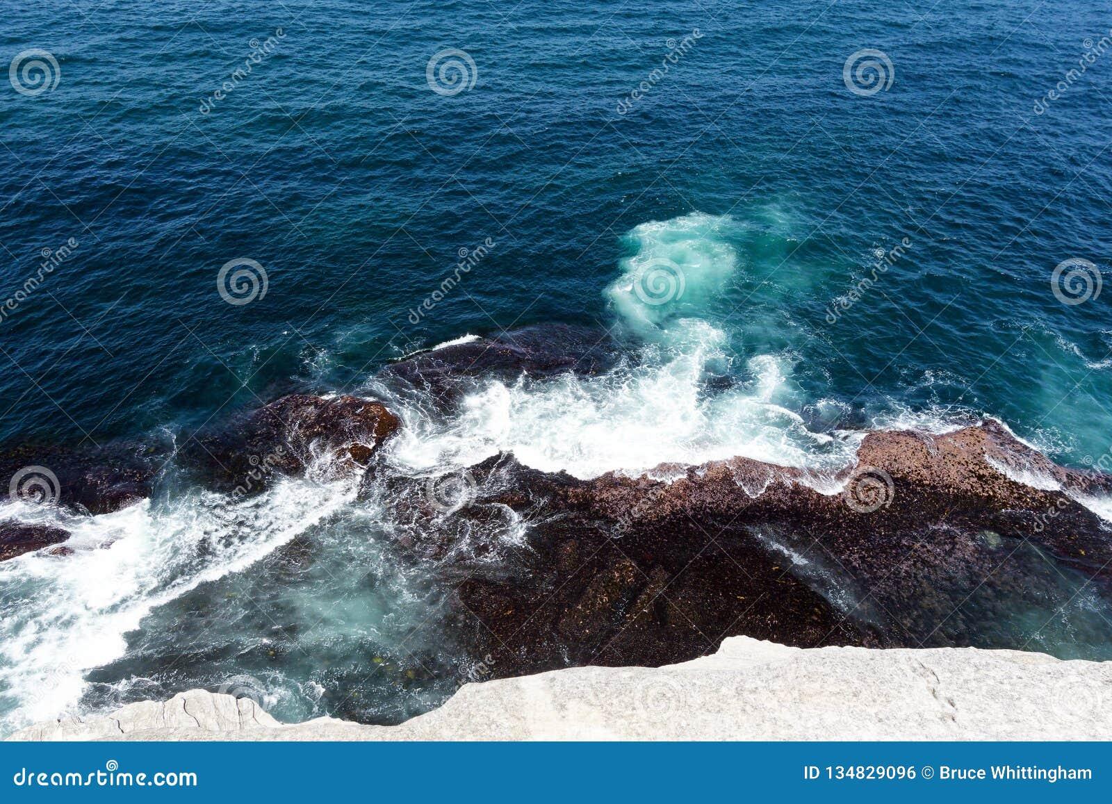 Pacific Ocean Waves on Sydney Cliffs, Australia