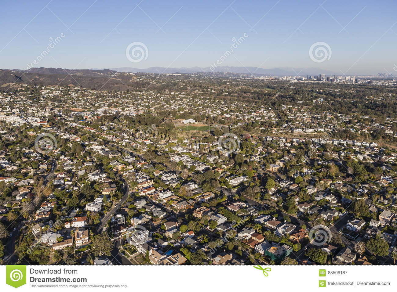 Pacific- Palisades und West-Los Angeles-Antenne