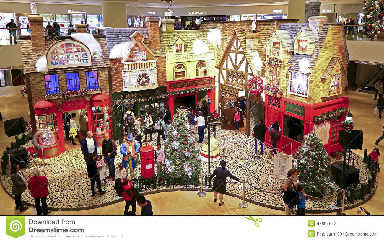 Pacific place mall christmas decor hong kong editorial for Christmas decorations online shopping