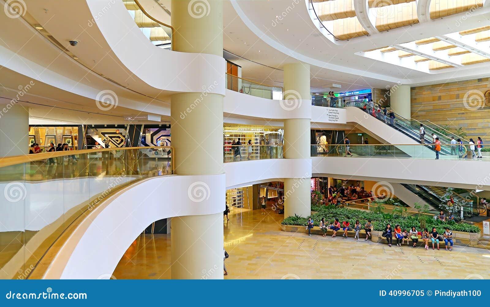 Hong Kong Shopping Center Interior Editorial