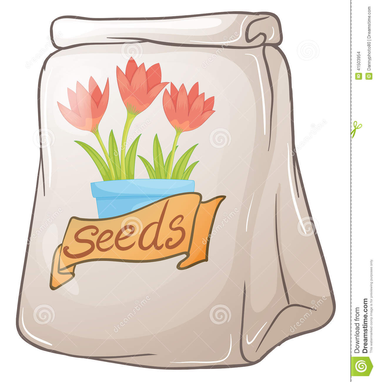 A Pack Of Flower Seeds Stock Vector - Image: 41503954