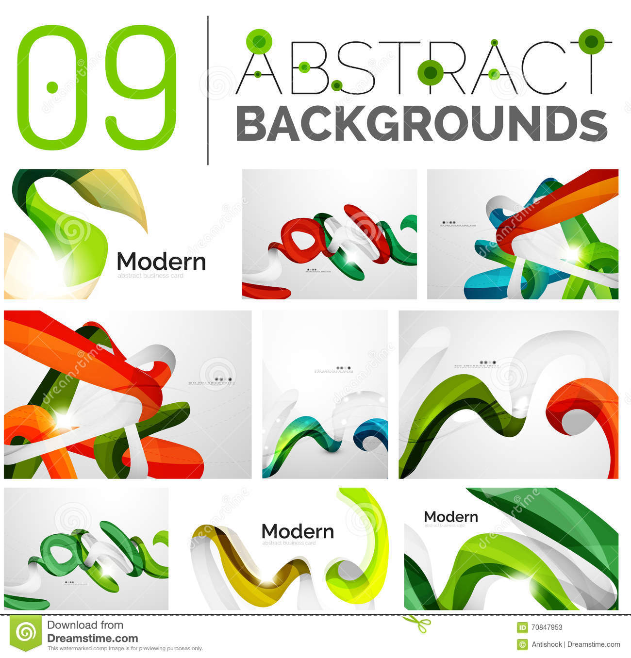 Pack Of Vector Abstract Backgrounds Stock Vector