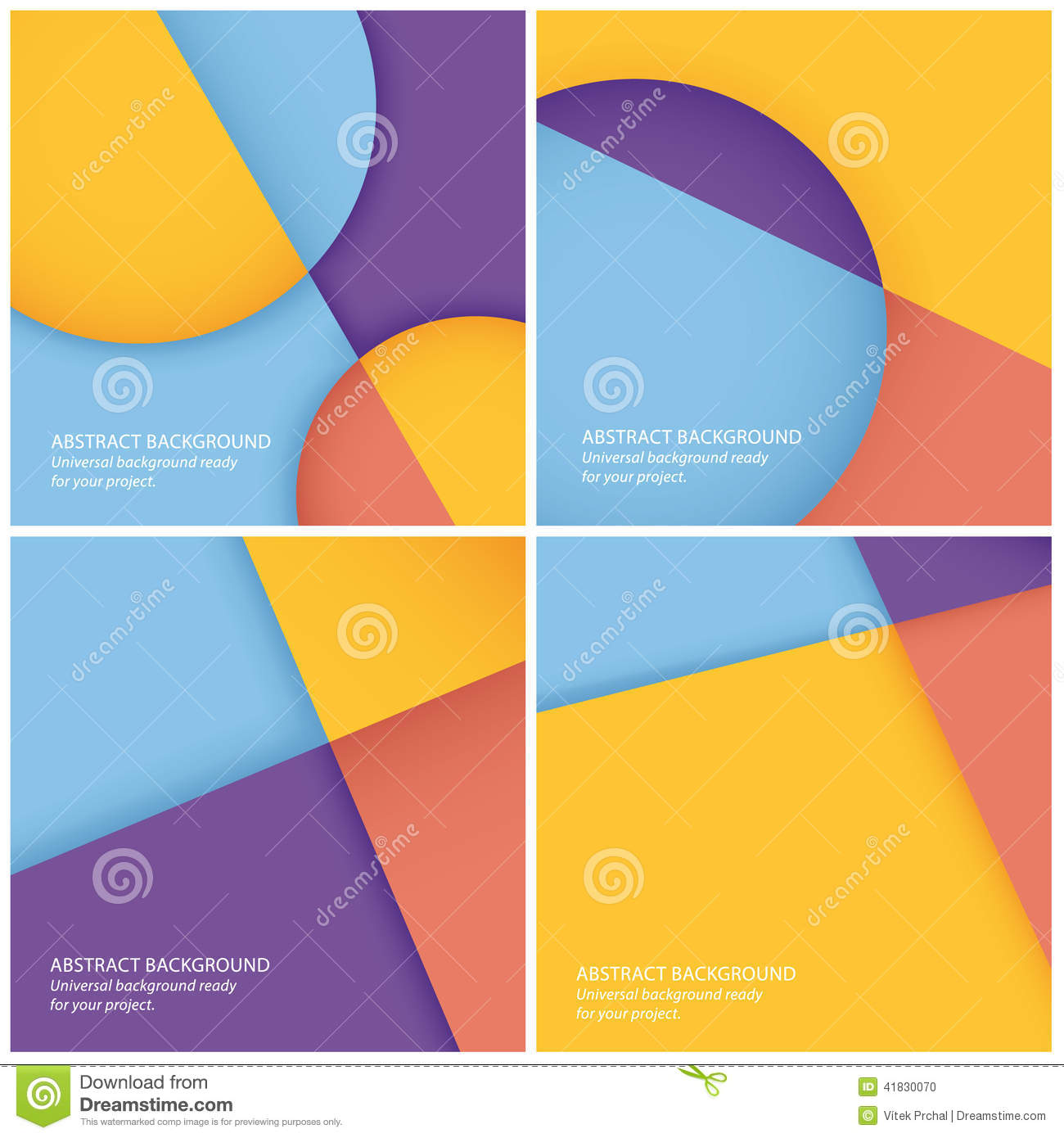 Pack Of Vector Abstract Geometrical Backgrounds. Stock