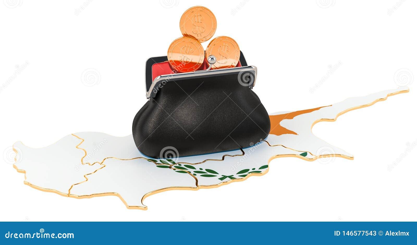Packa ihop, investering eller finansiellt begrepp i Cypern framf?rande 3d
