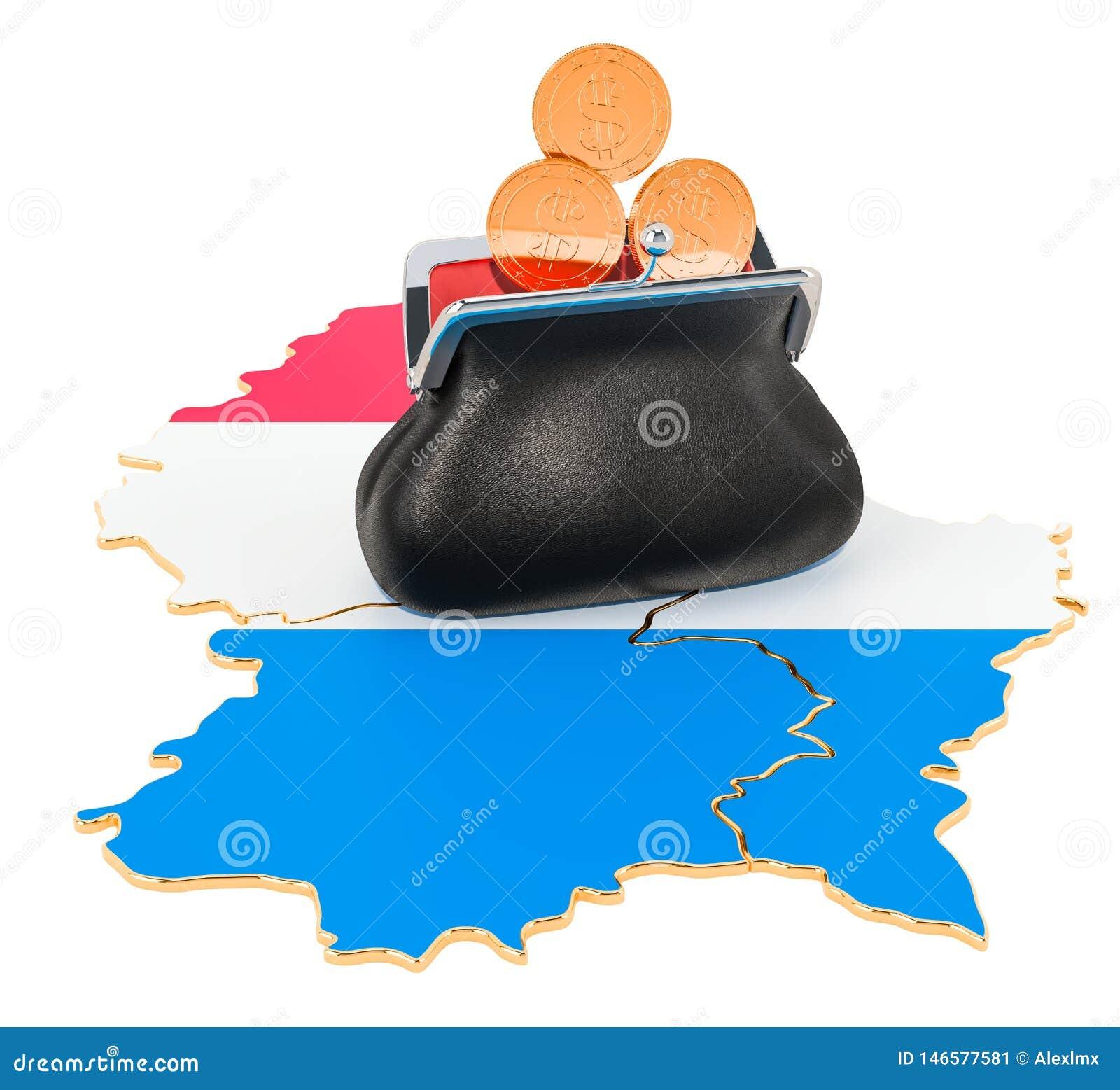 Packa ihop, investering eller finansiellt begrepp i Luxembourg framf?rande 3d