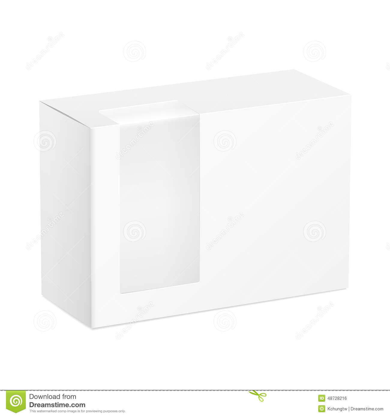 Package box with a transparent plastic window vector for Window plastic