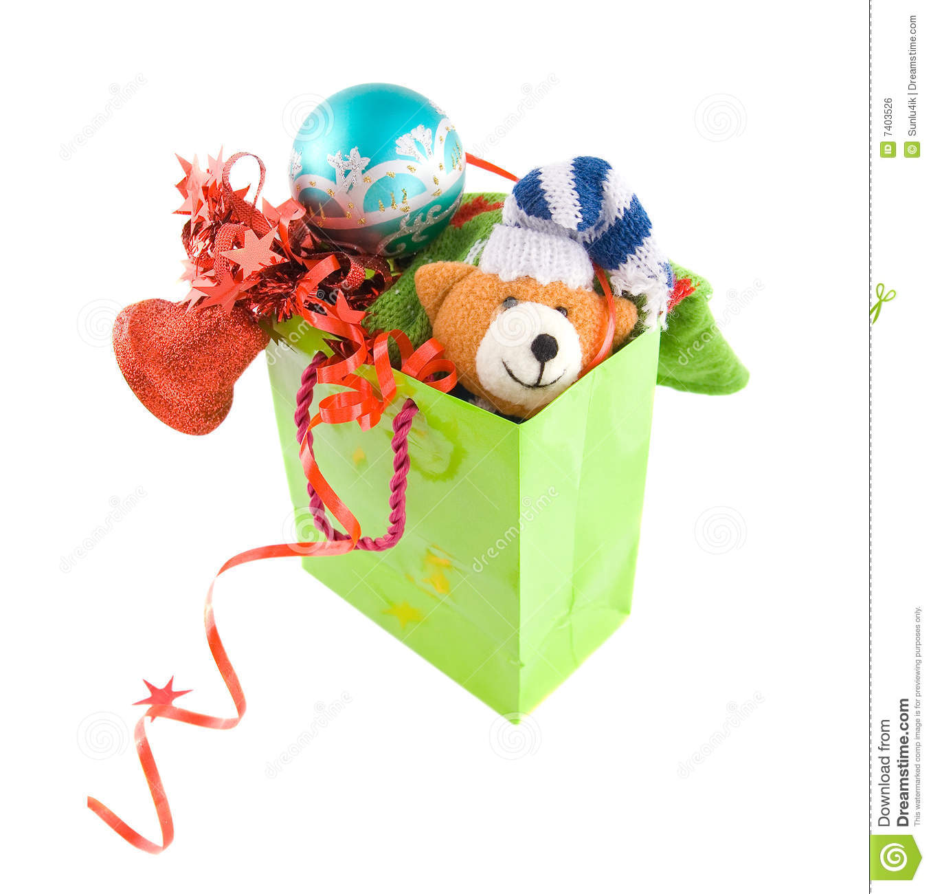 Package With Christmas Gift Royalty Free Stock Image - Image: 7403526