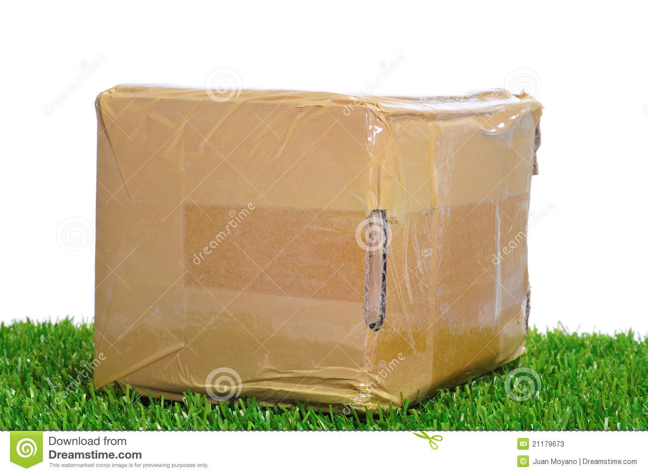 Package on the grass