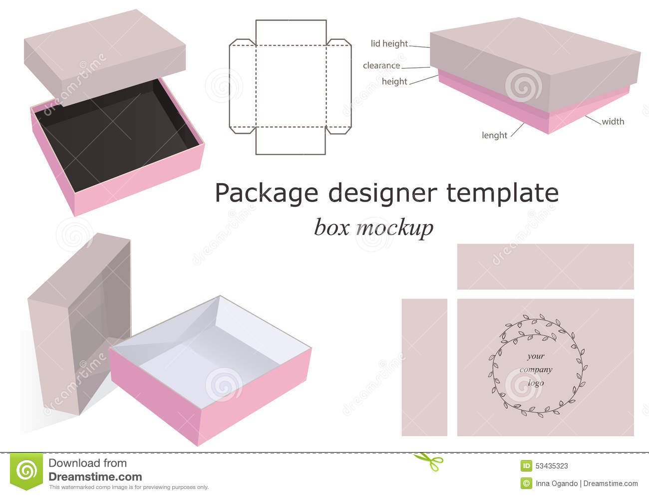Paper Recycling Sign Package Mockup Box Sto...