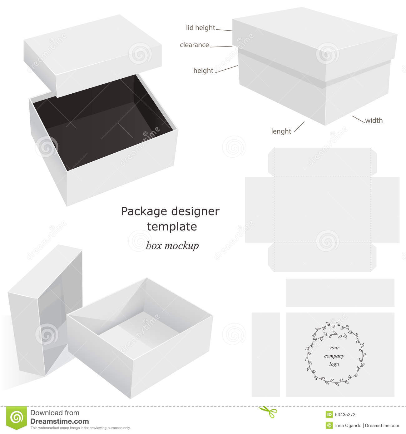 Package Mockup Box Stock Vector Illustration Of Retail 53435272