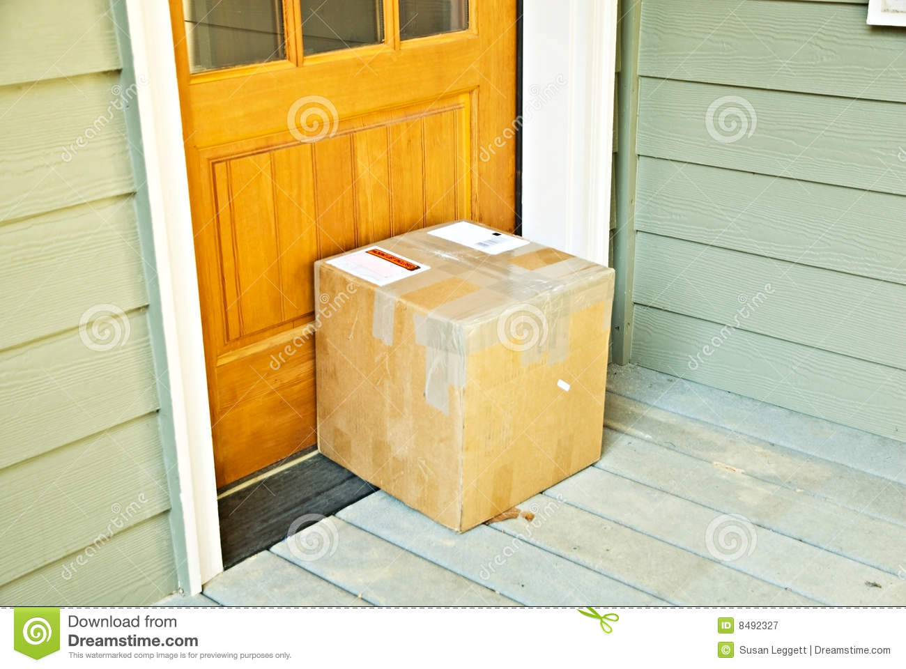 PackageParcel At Door Royalty Free Stock Photography
