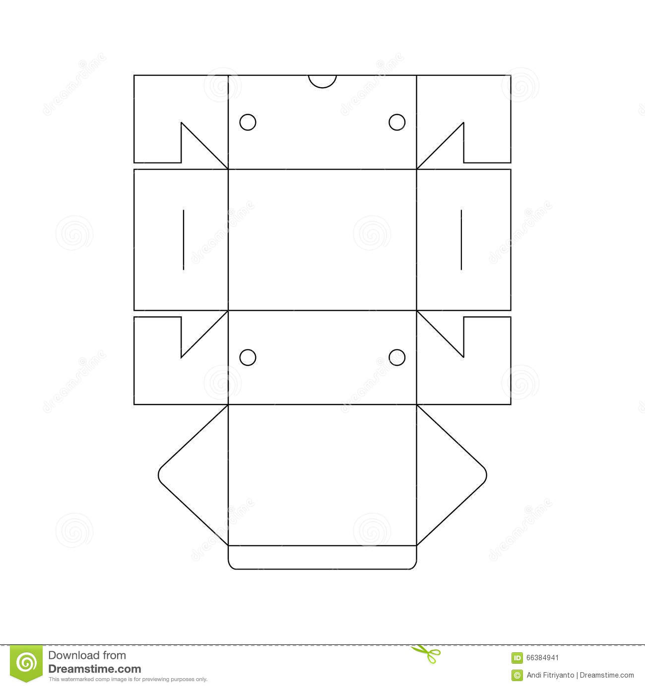 Packaging Box Template Stock Vector - Image: 66384941