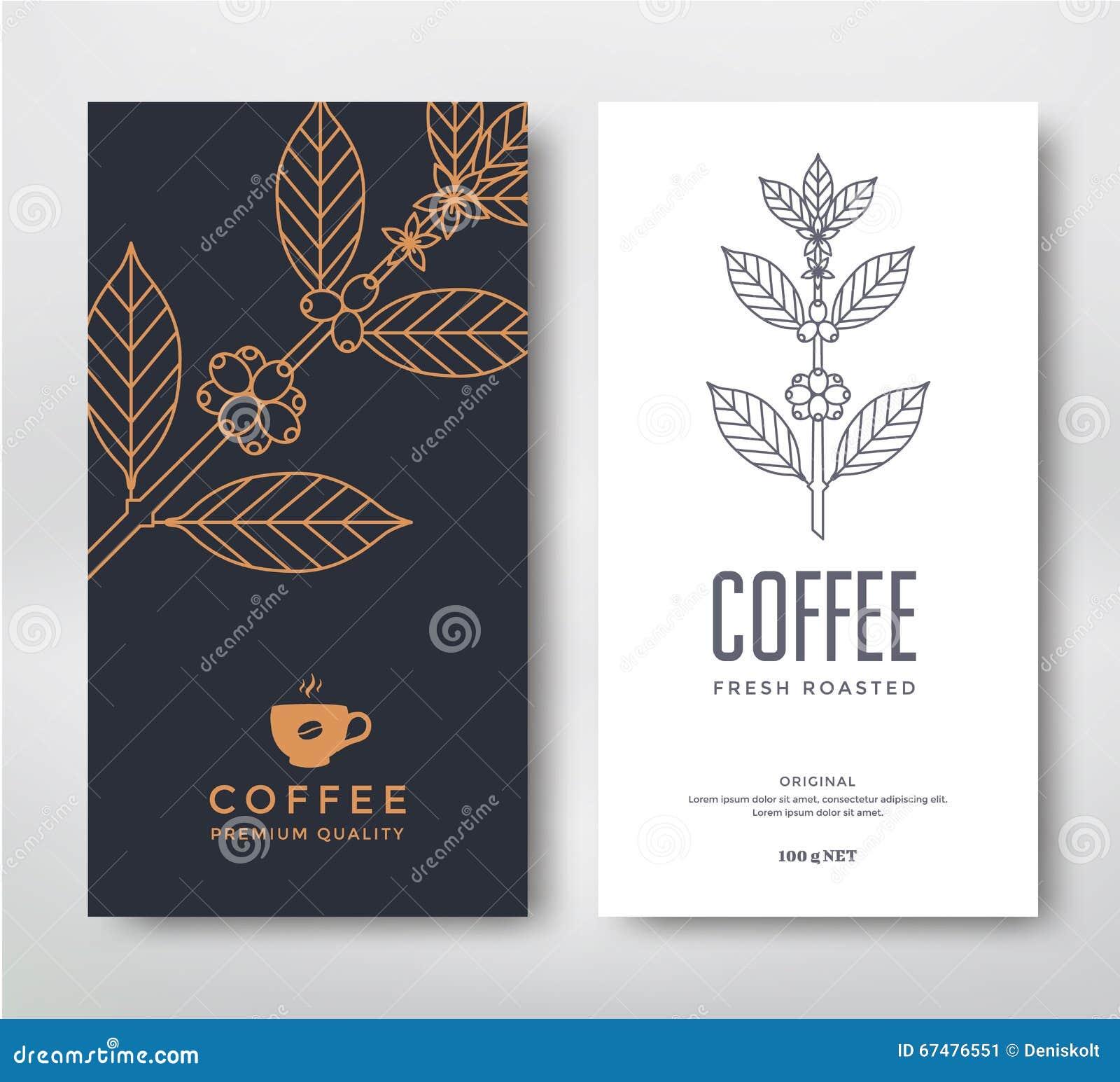 Coffee Packaging Designs coffee packaging design stock vector - image: 68767947