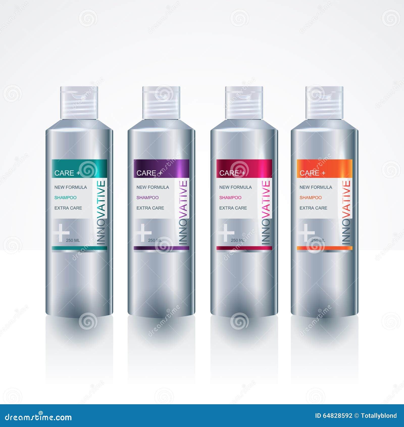 packaging design template for body care bottle stock vector