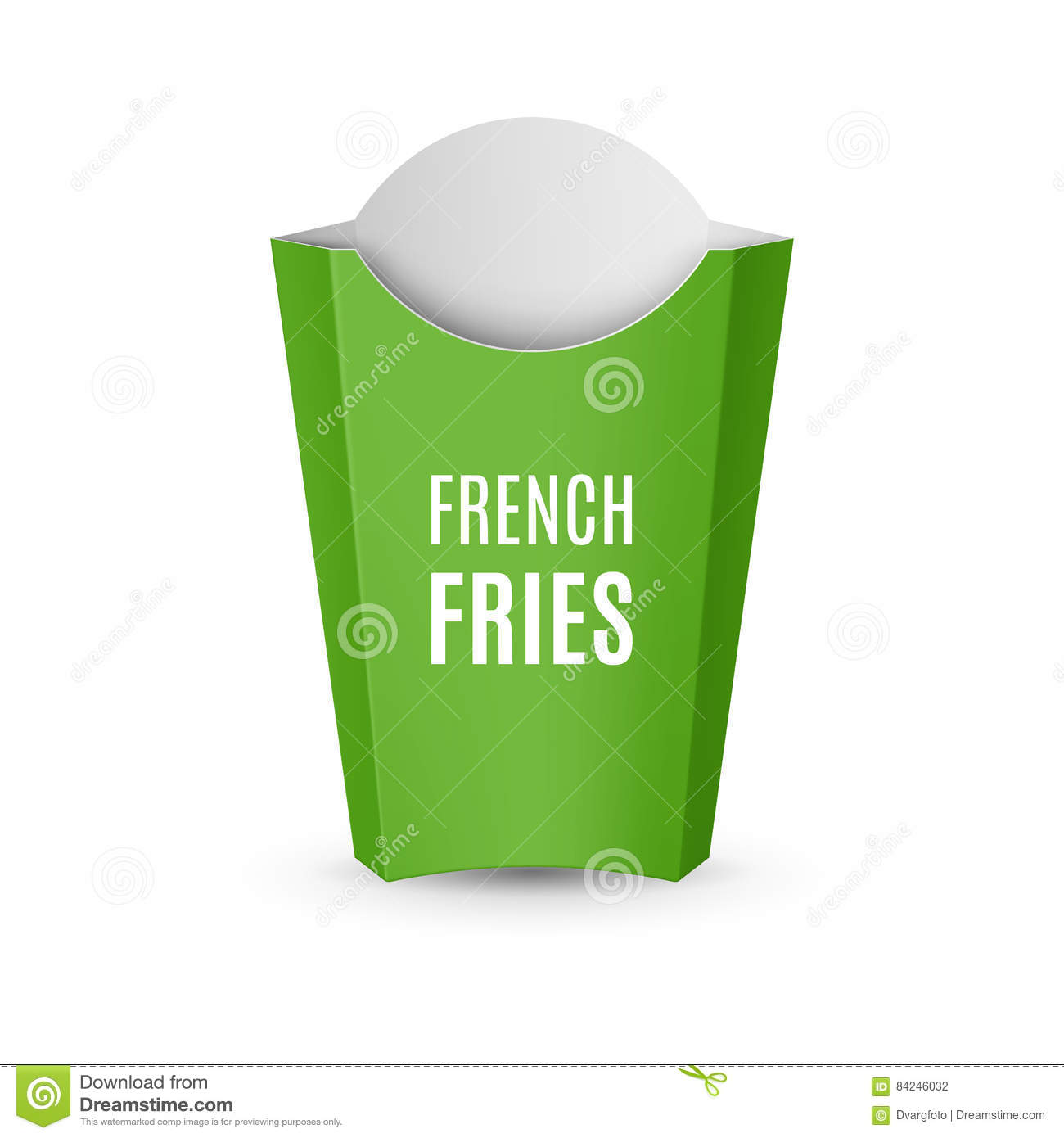 packaging for french fries stock vector illustration of fresh
