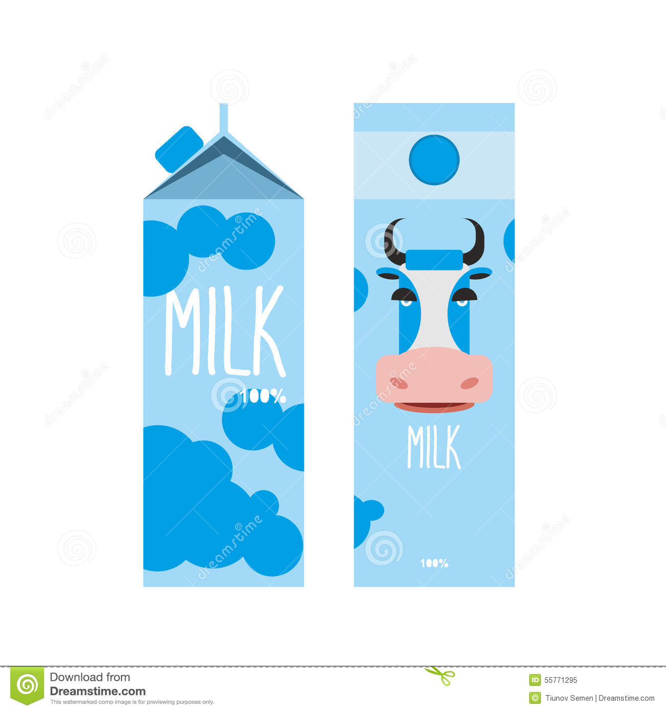 Milk Carton Template Design