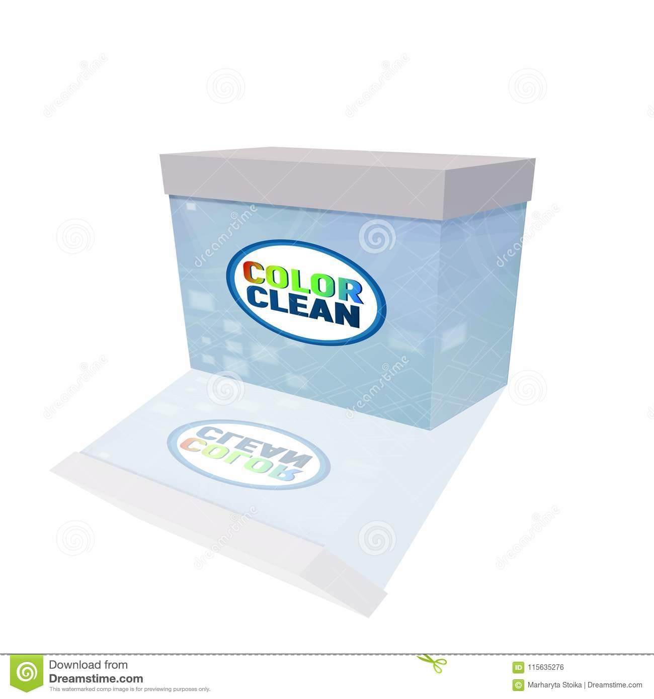 The Packaging Of Washing Powder  Stock Vector - Illustration