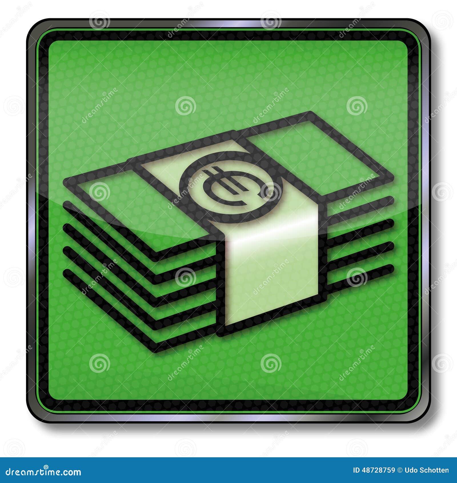 Packar av pengar i euro