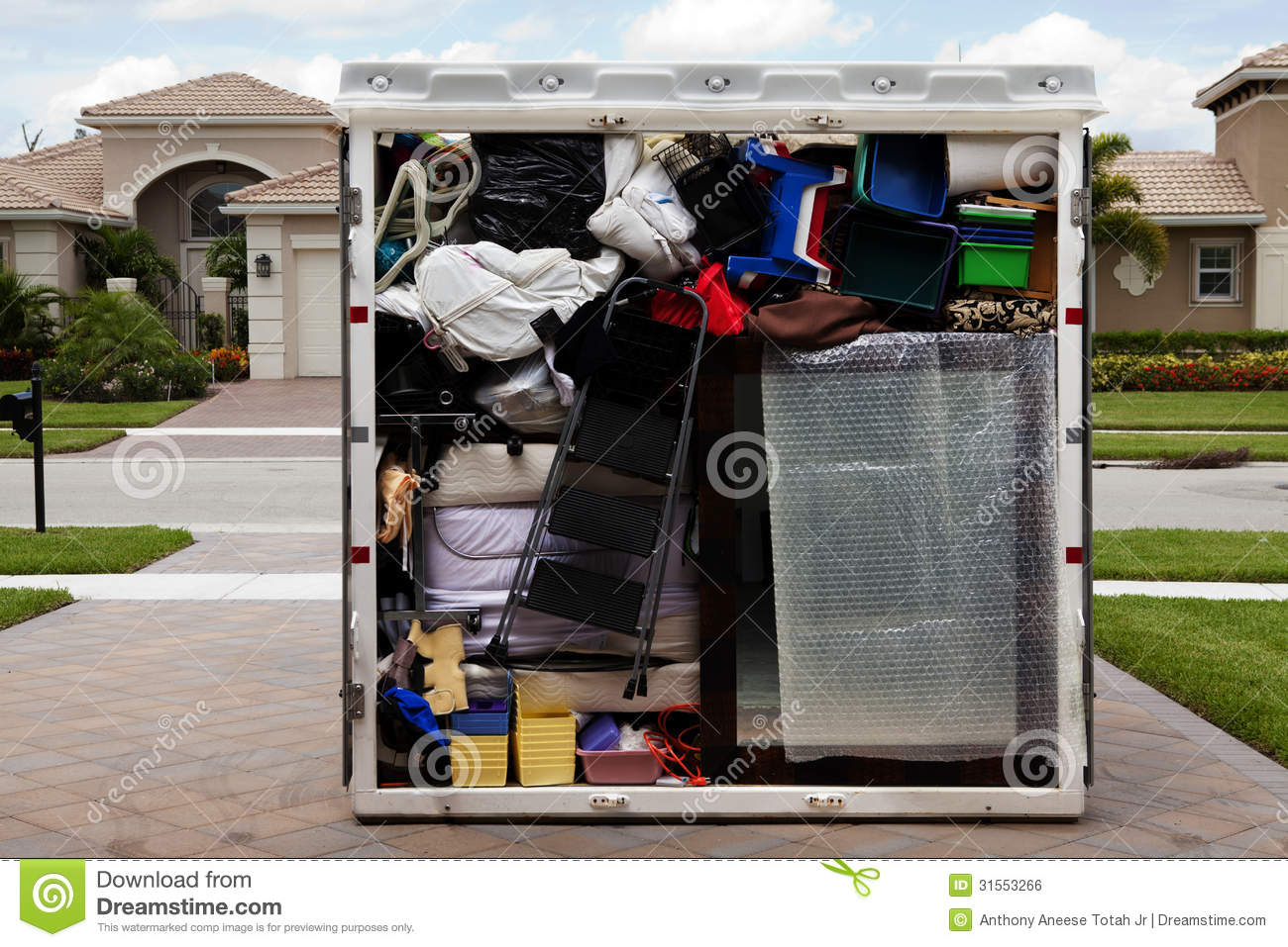 Packed Portable Storage Container Stock Photo Image Of