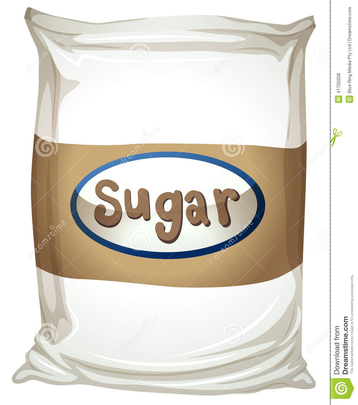 White Kitchen A Packet Of Sugar Stock Vector Illustration Of Labelling