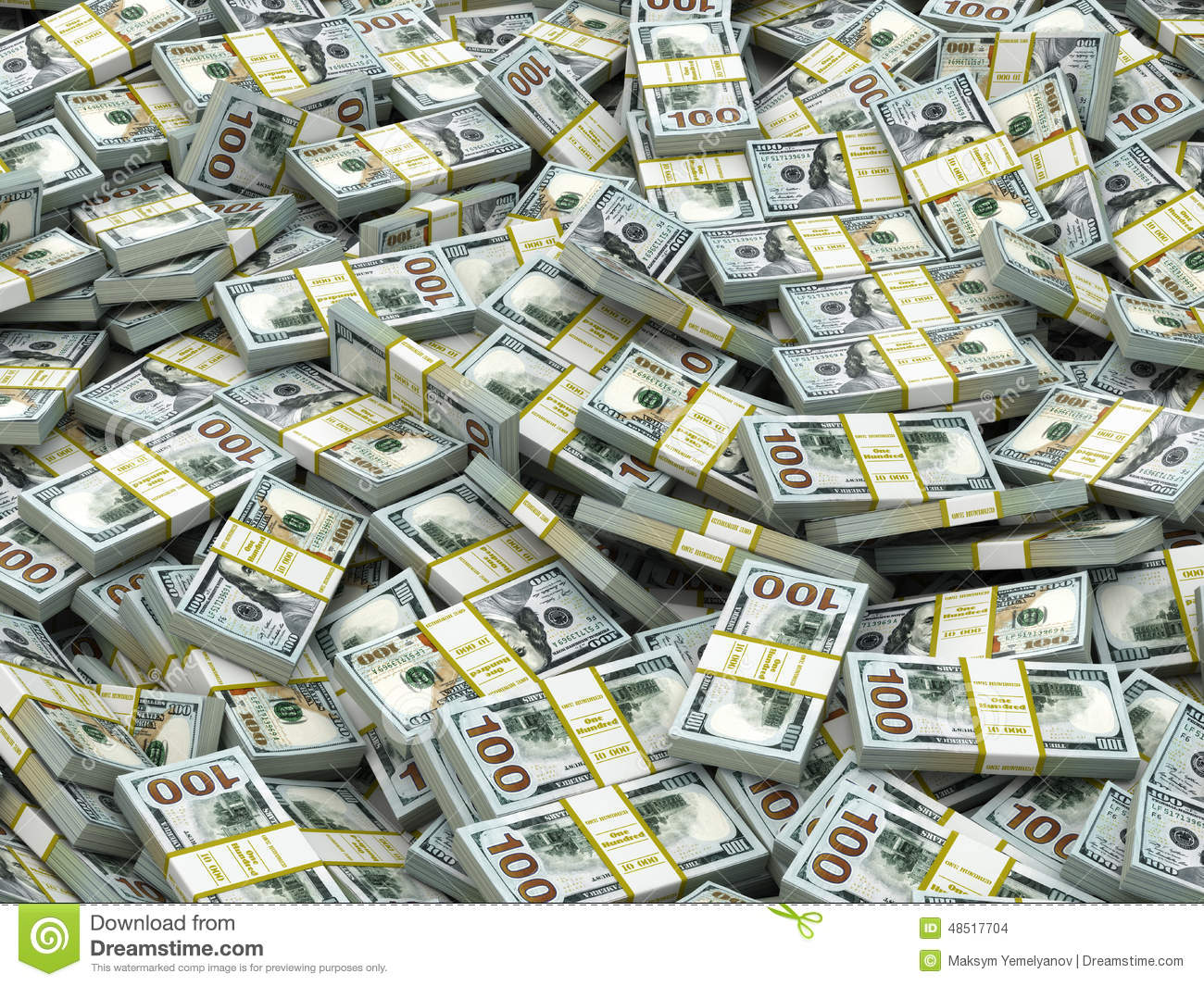 packs of dollars background lots of cash money stock illustration