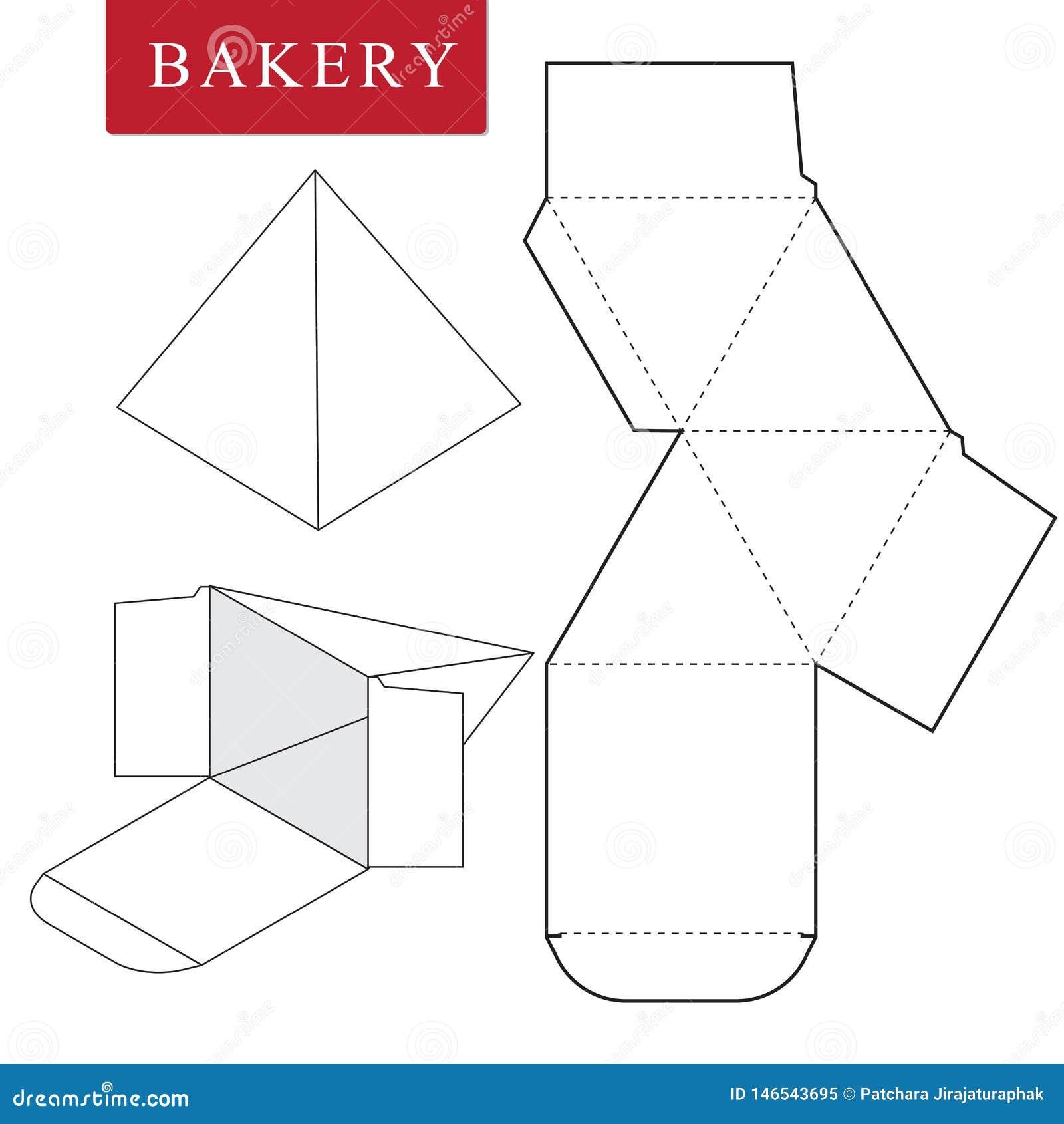 Pacote para a padaria Ilustra??o do vetor da caixa