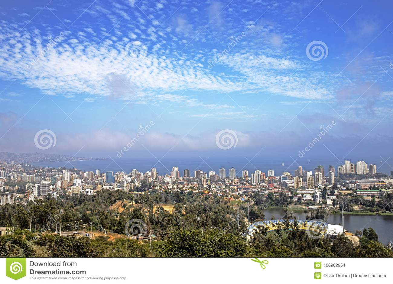Pacyficzny ocean Santiago De Chile