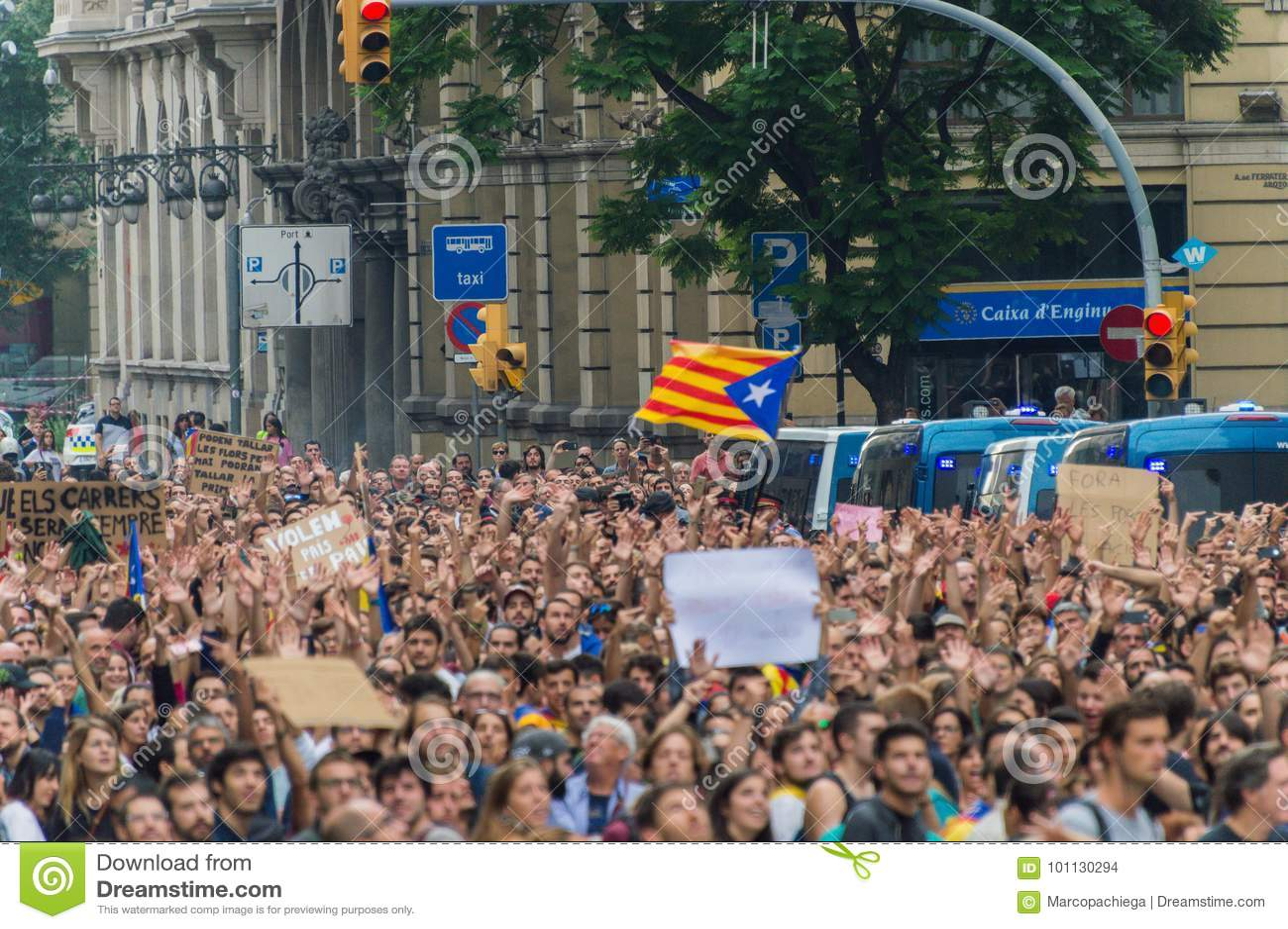 Pacyfik protest, Barcelona