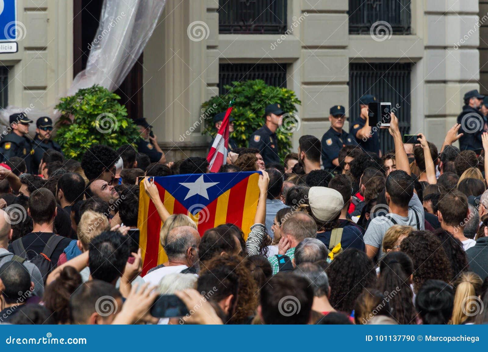 Pacyfik strajka protest, Barcelona