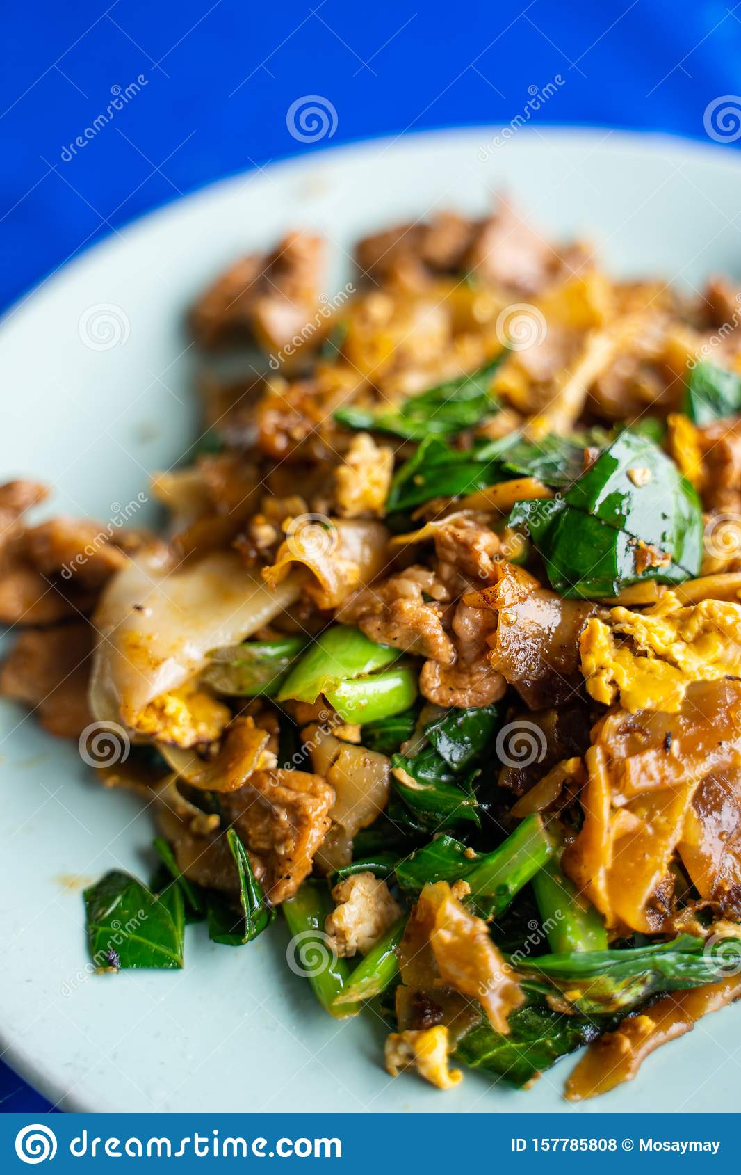 Pad See Ew stir fried noodle with black soy sauce