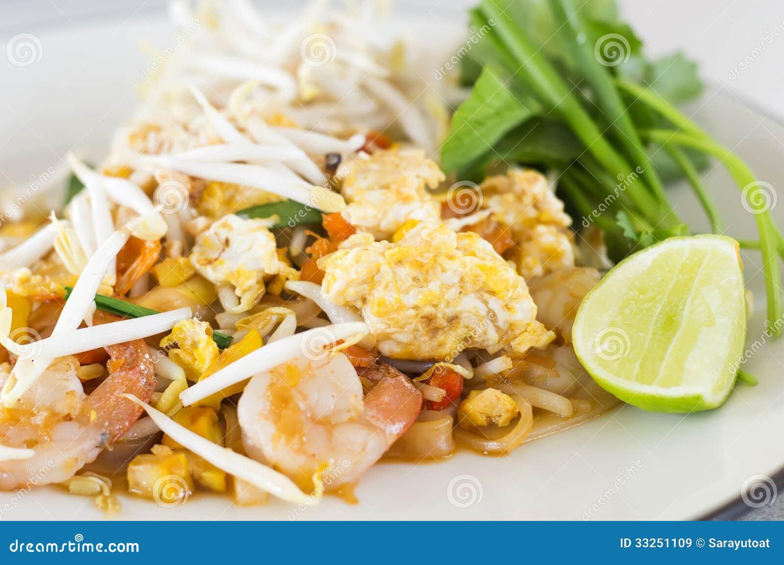 Pad Thai Stir-fried Rice Noodles,Stir Fry Noodles With Shrimp Royalty ...
