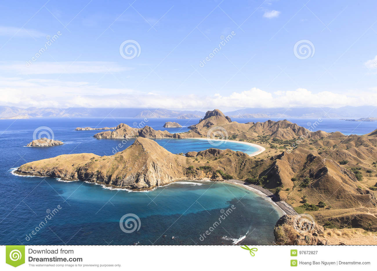 PADAR-INSEL, Nationalpark Komodo, Indonesien