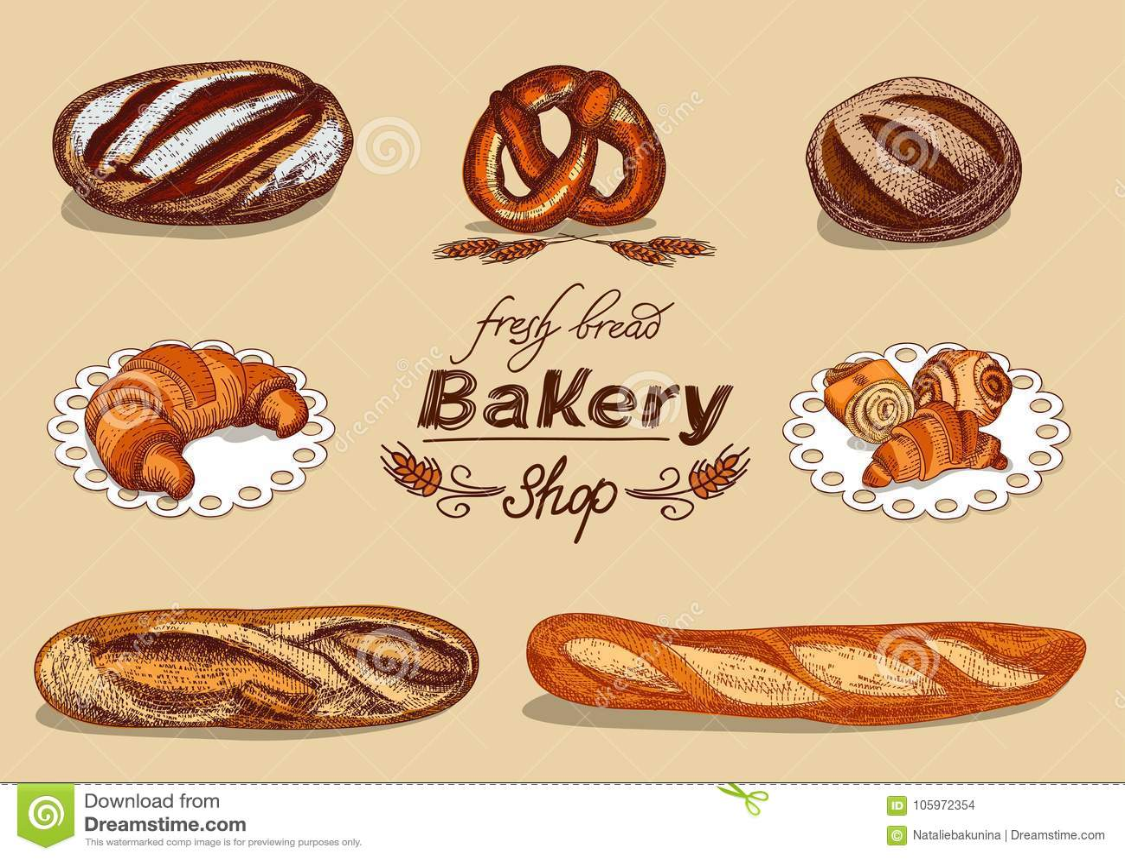 Padaria ajustada com pão