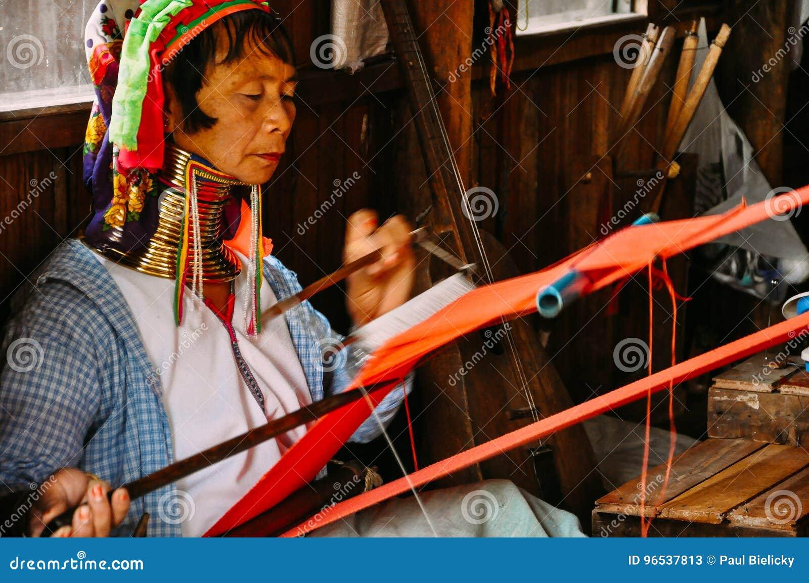 Padaung Tribe long neck lady of Inle Lake.