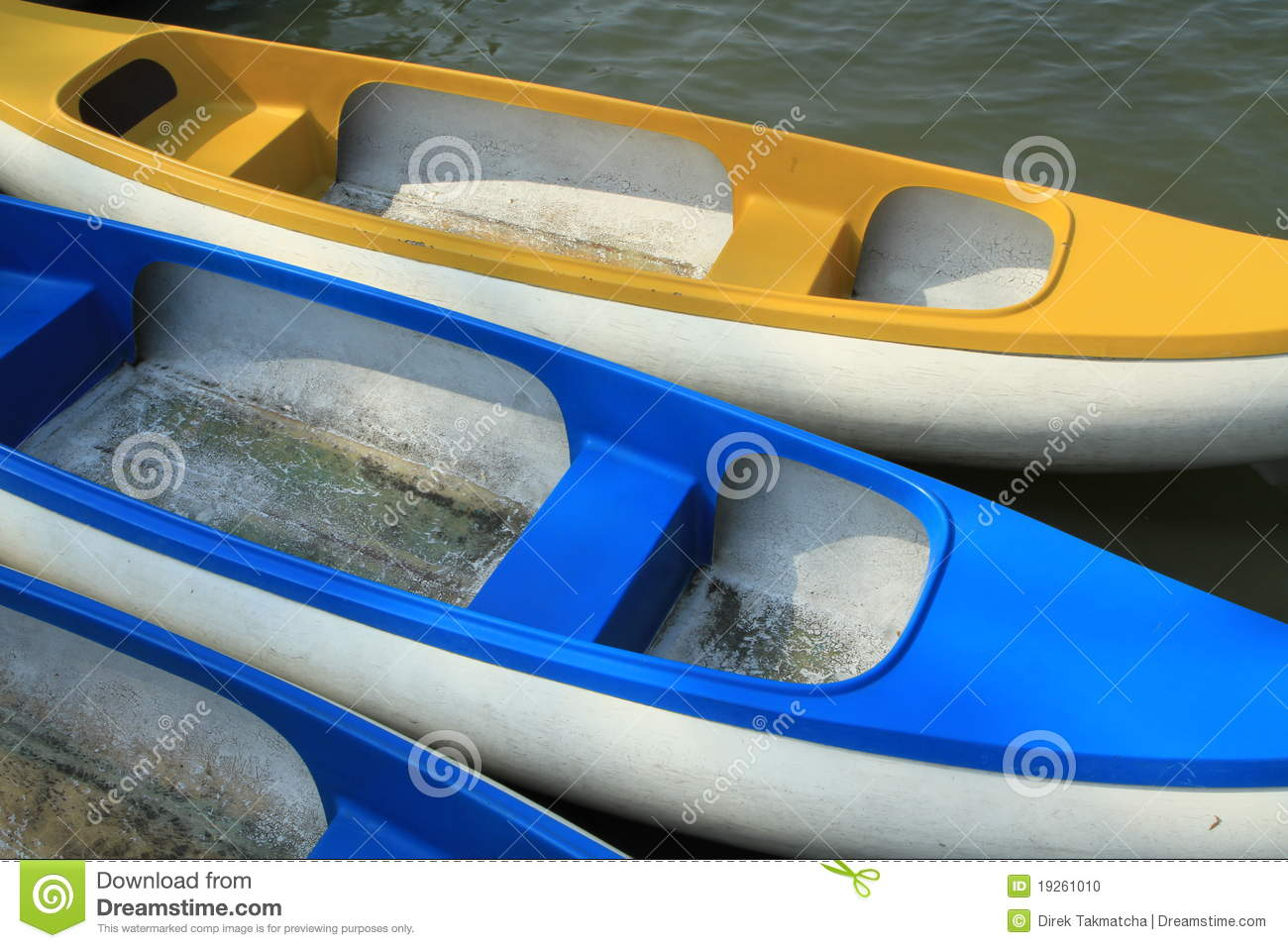 Paddle Boats Made Of Fiberglass Stock Photo Image 19261010