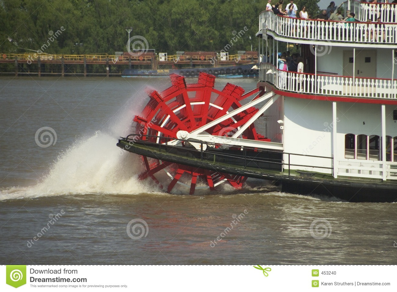 Paddle Steamer On The Mississippi Stock Photo - Image: 453240