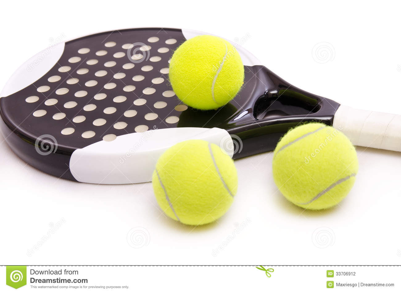 Paddle Tennis Time Stock Photography - Image: 33706912