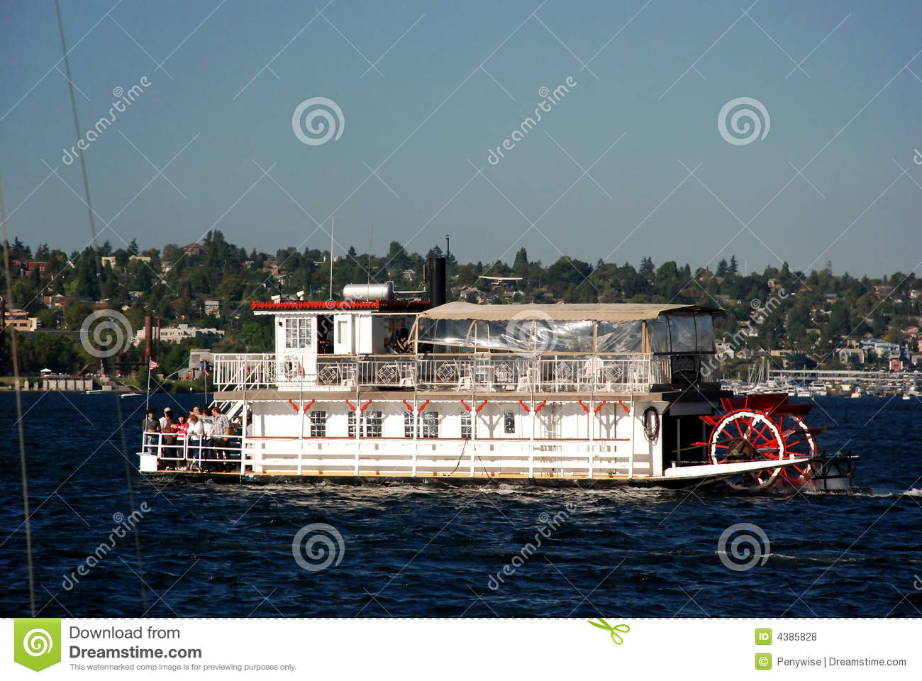 Paddle Wheel Boat Royalty Free Stock Photos - Image: 4385828