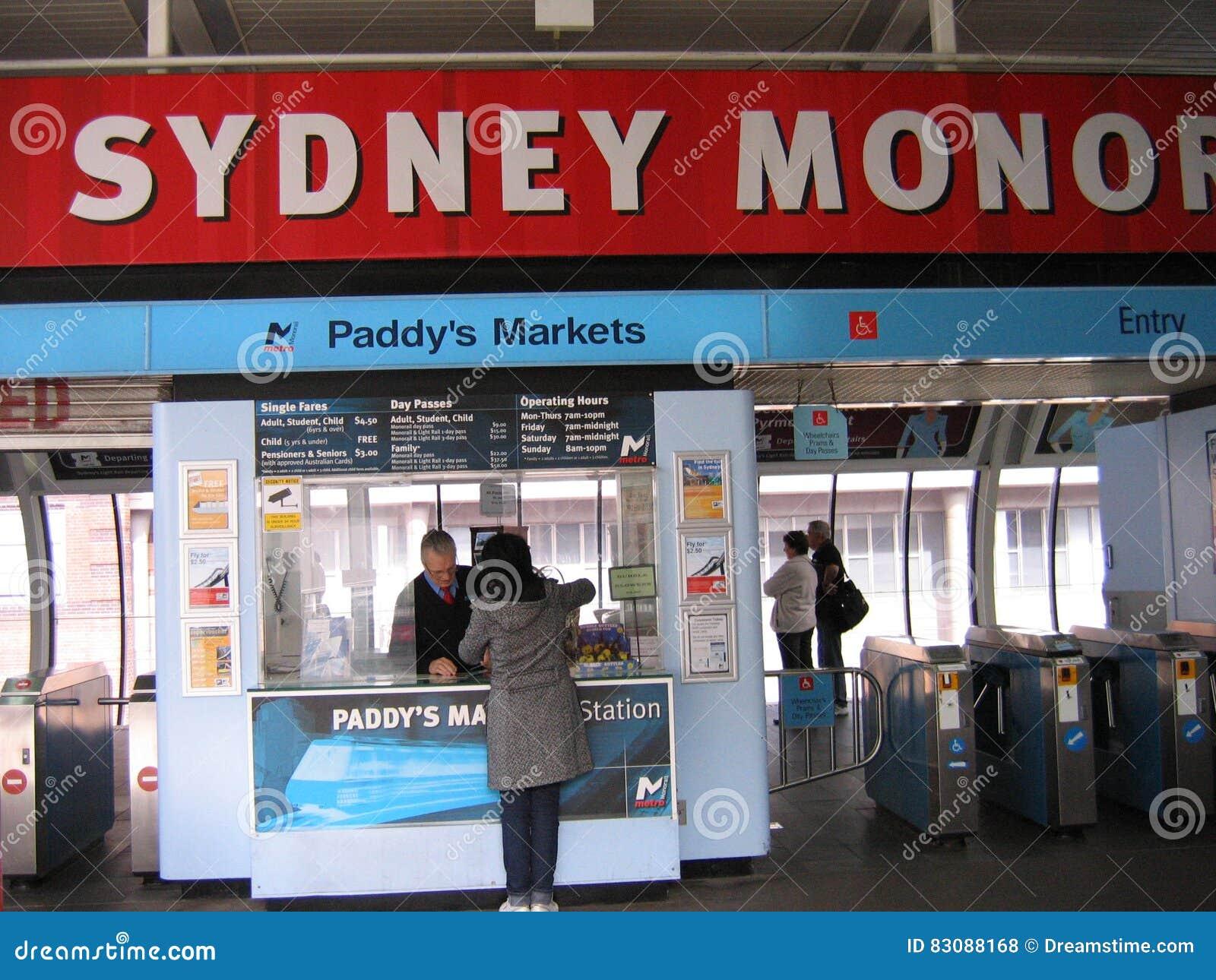 Paddy ` s vermarktet Station, Sydney Monorail