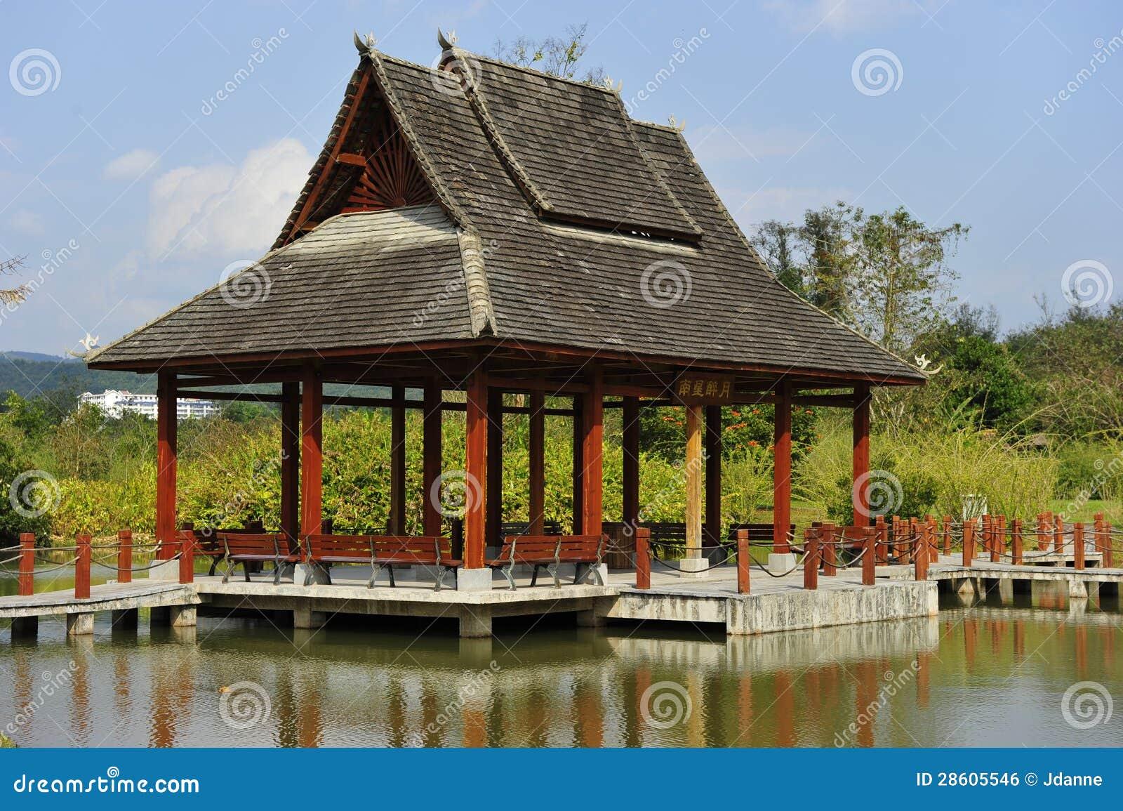 Padiglione del giardino del cinese tradizionale fotografia for Giardino cinese