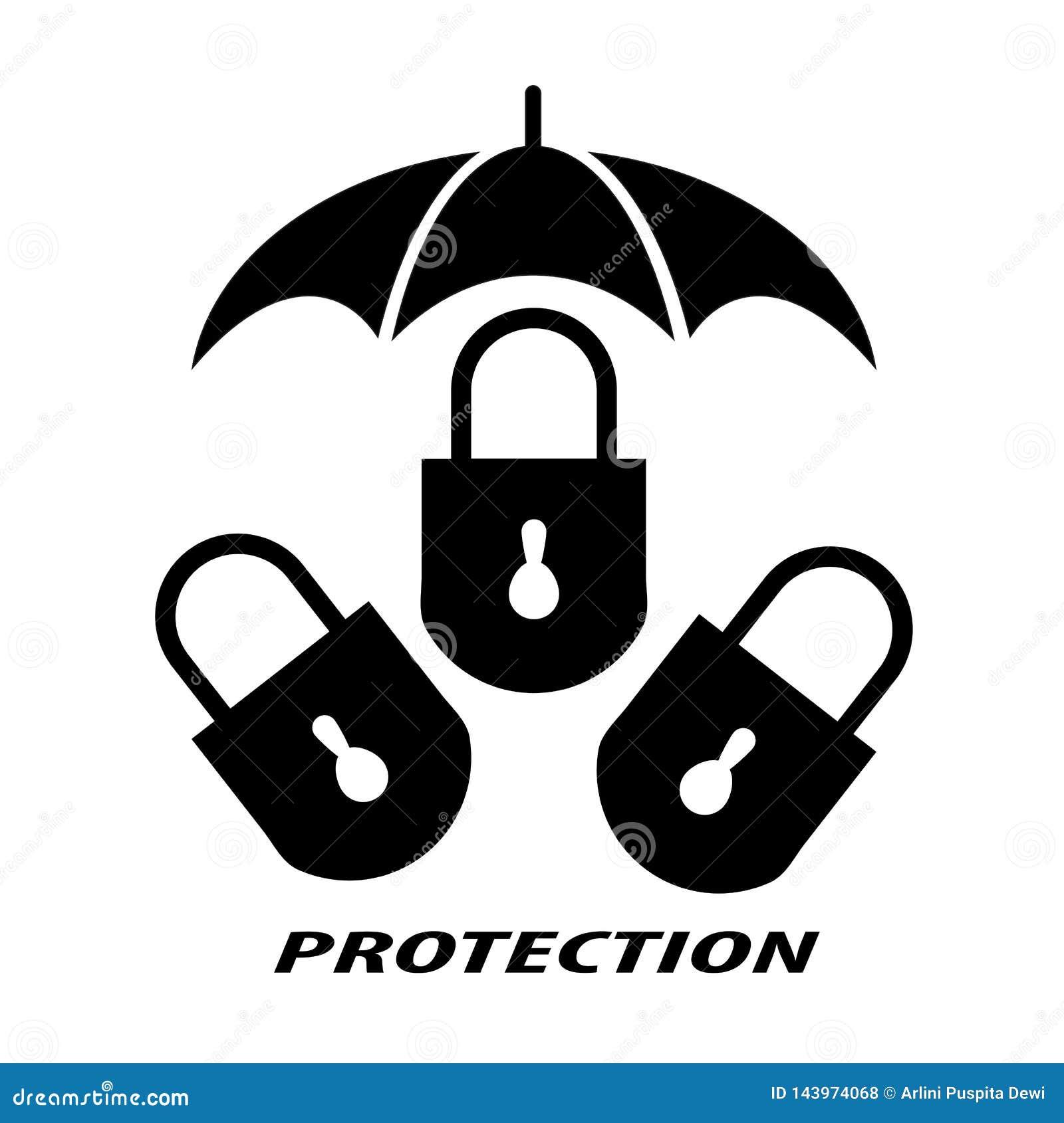 Padlock символизирует защиту