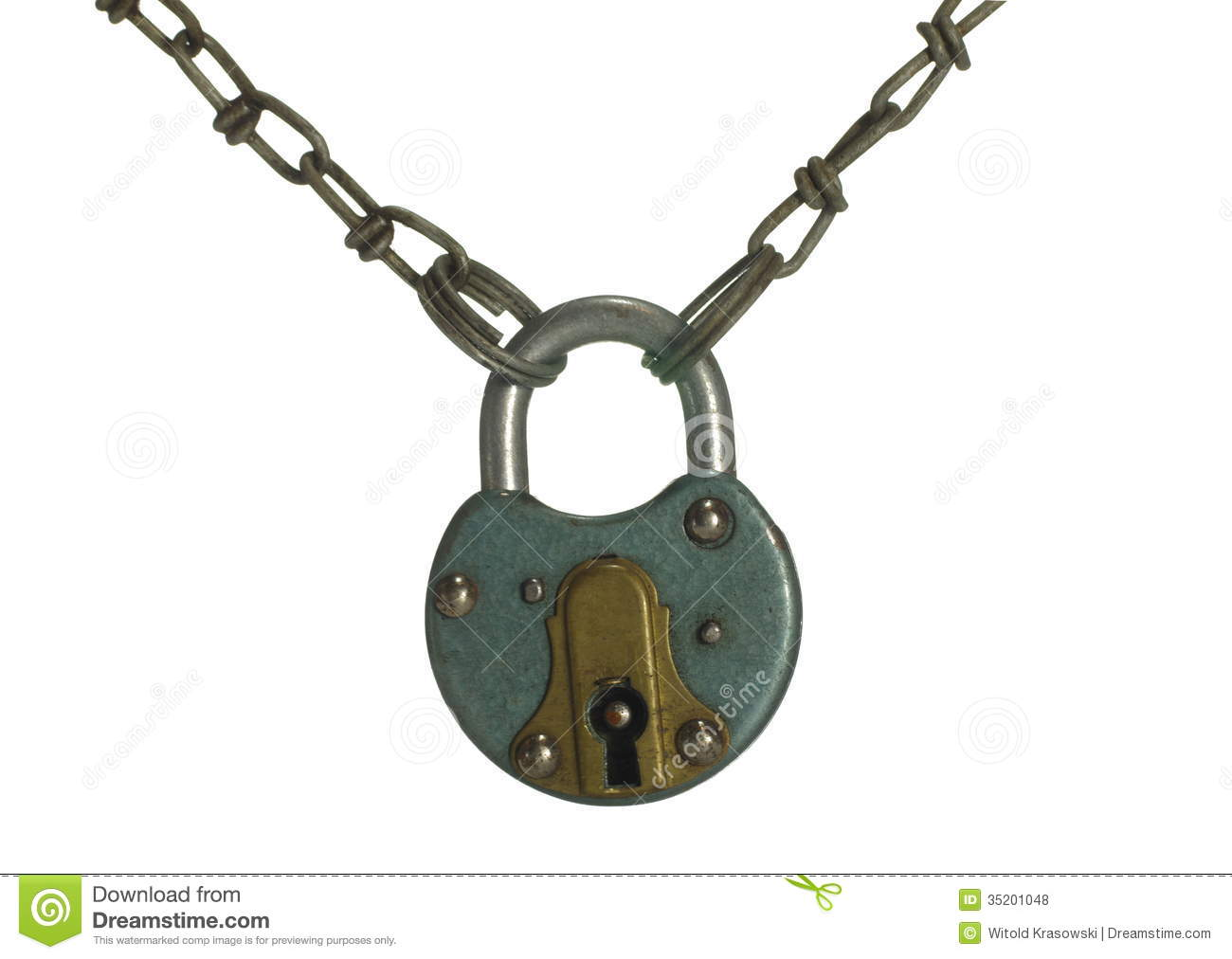 Padlock With Chain Roy...