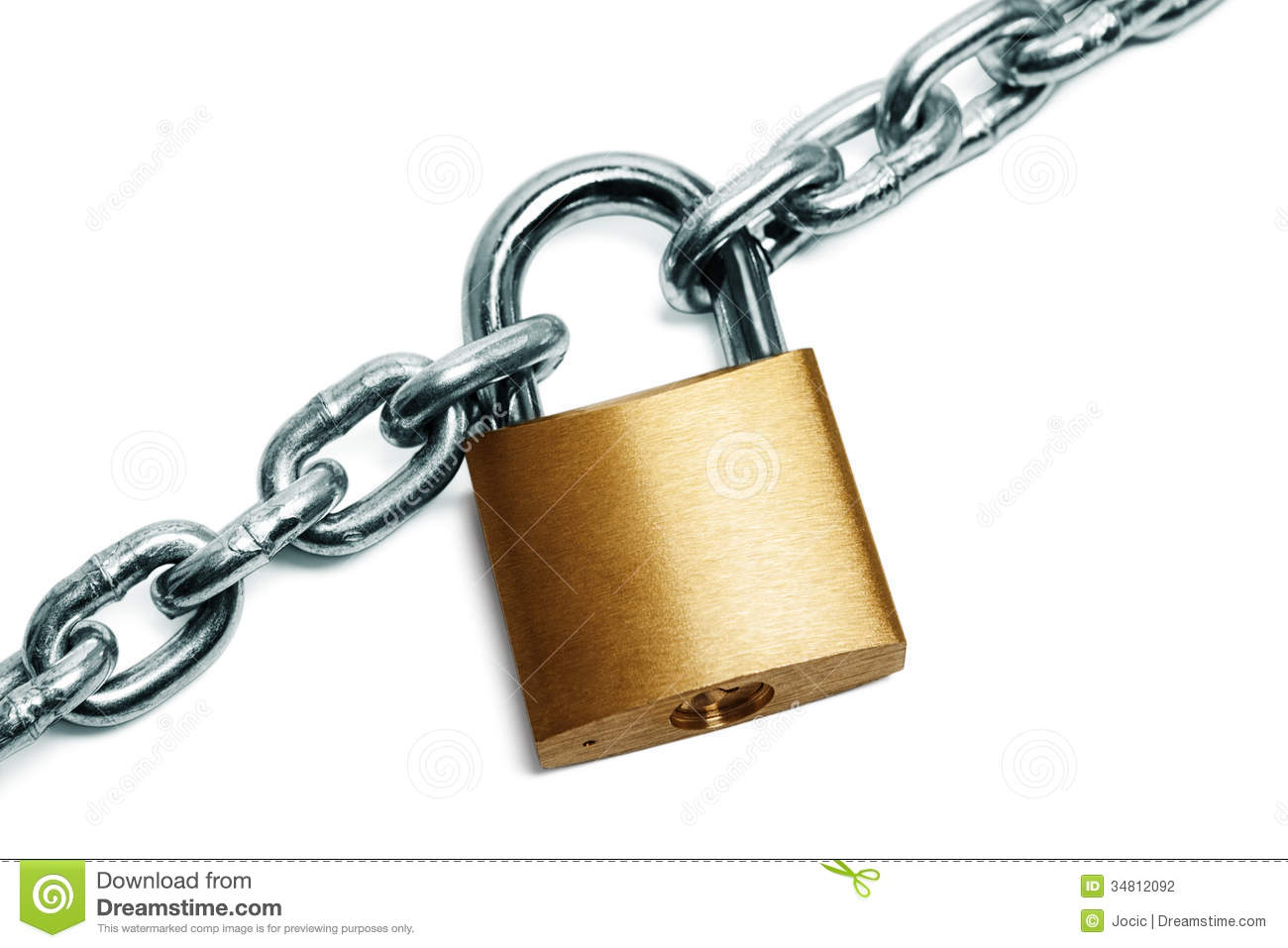 Padlock And Chain Stock Photography - Image: 34812092