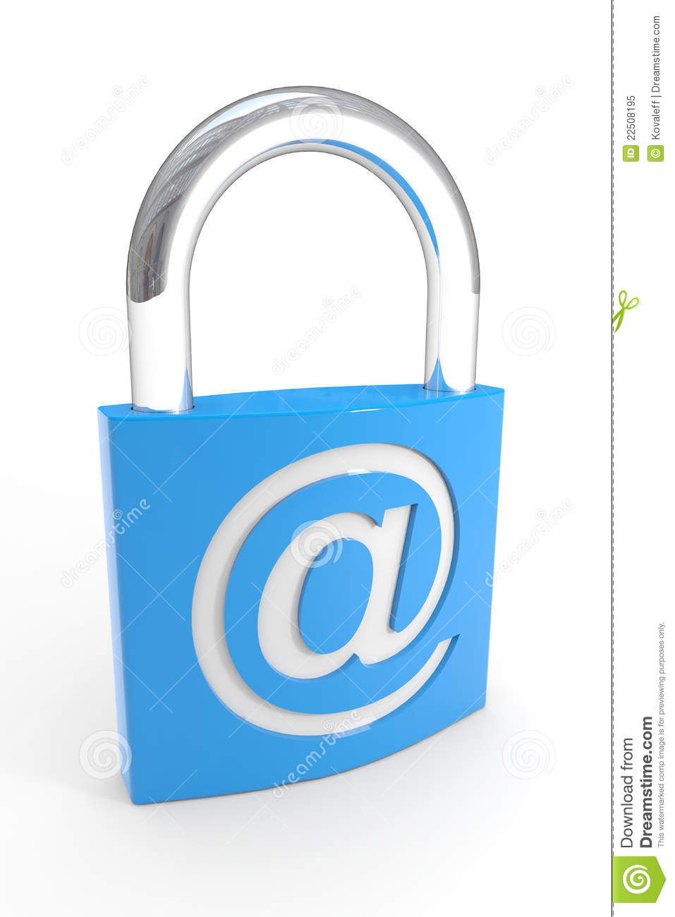 Padlock with e mail symbol internet safety stock illustration padlock with e mail symbol internet safety biocorpaavc