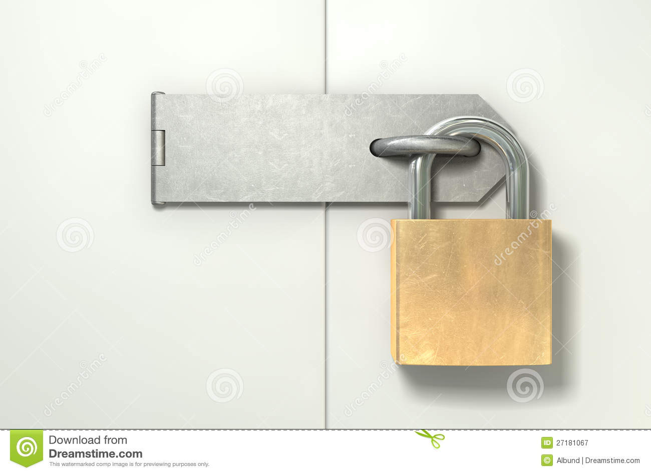 ... And Hasp Locked Front Royalty Free Stock Photography - Image: 27181067